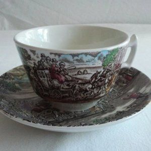 Woods and Son The Post House Tea Cup and Saucer